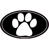 Paw Print Black White